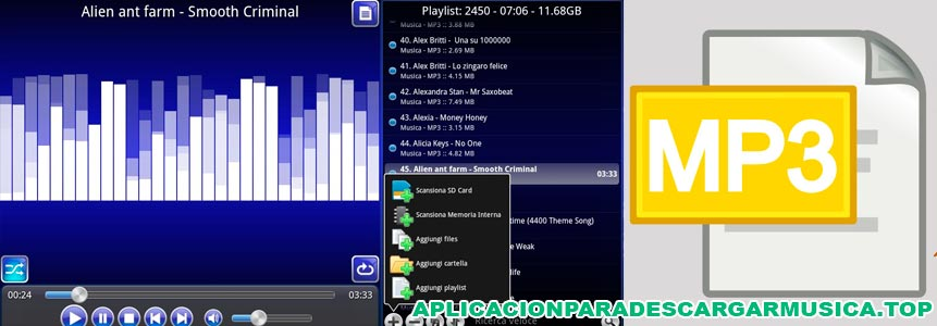 imagen de la app para tablet descargar música mp3