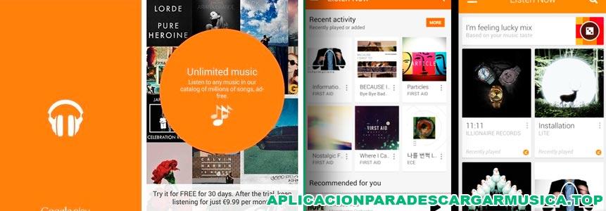 con google play music podrás tener la mejor música en tu smartphone android