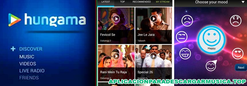 bájate mp3 gratis con la app hungama music