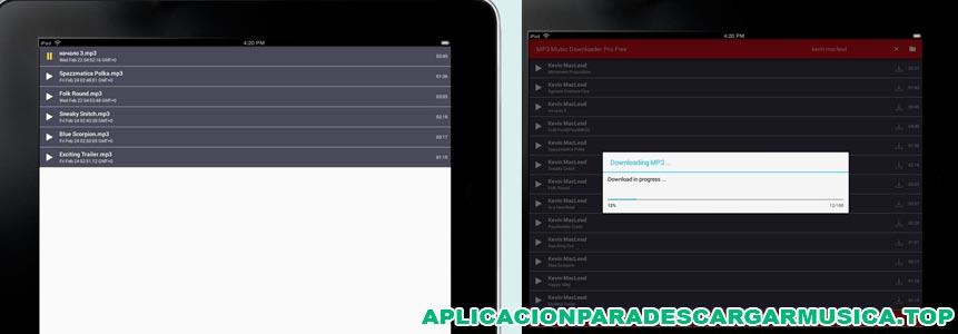 imagen de la aplicación mp3 music downloader que sirve para descargar música gratis a las tablets