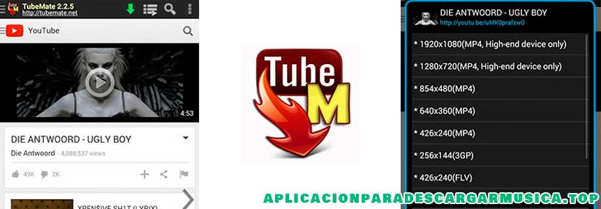 descarga mp3 con tubemate