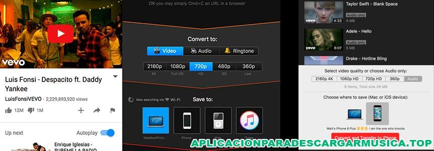 imagen de la app softorino para bajar música desde youtube con iphone