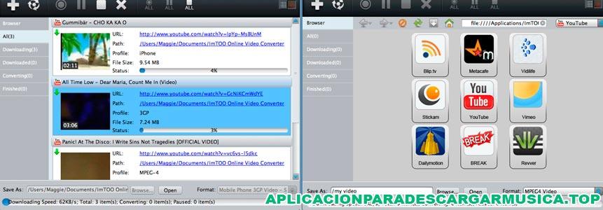 composición de imagenes del programa online video converter