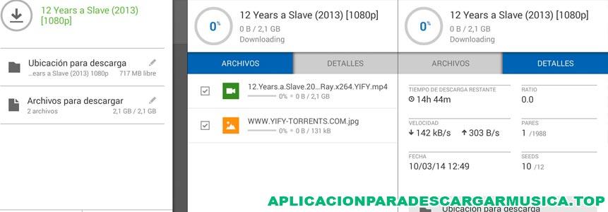 imagen del programa utorrent para descargar música y vídeos