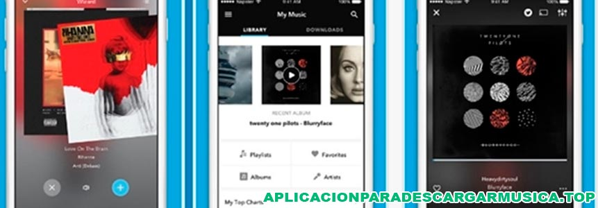 imagen de la aplicación napster