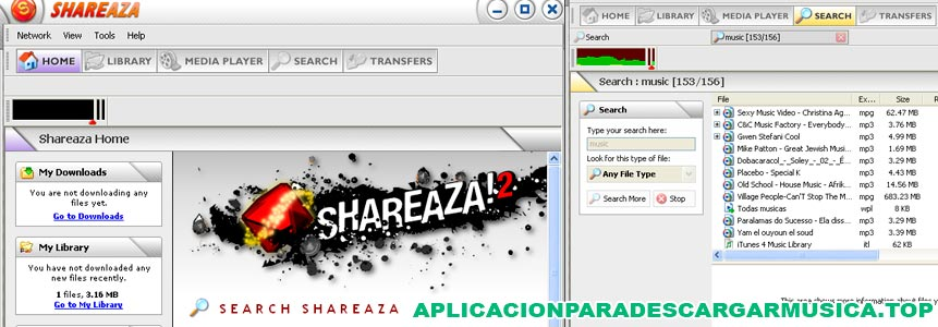 captura de pantalla de shareaza